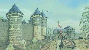 Château d'Angers gravure